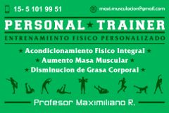 Maximiliano Rubino - Personal Trainer - Entrenamiento Físico Personalizado Villa Lugano
